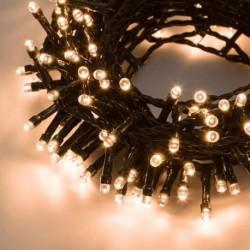 CATENA LINEARE MINILUCCIOLE A LED SERIE 'TLE' 180 led luce calda - 9,50 metri