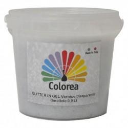 GLITTER PRISMATICI IN VERNICE TRASPARENTE lt.0,90 - multicolor