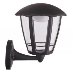 Lanterna nera Era LED a muro braccio Inferiore - 8 Watt