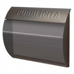 CASSETTA PORTAPUBBLICITA' SERIE 'BUSTA' colore grigio ghisa